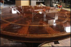 wonderfull extra large 88 round mahogany dining table with perimeter leaves with large round dining table