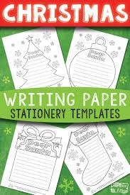 Printable Christmas Writing Stationery Papers Itsy Bitsy Fun