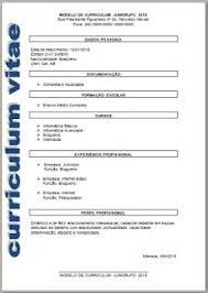Curriculum Pronto Para Preencher E Imprimir Curriculum