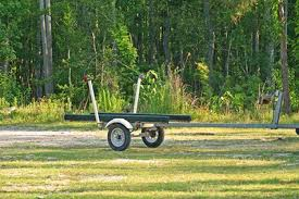 small boat trailer with post guide ons