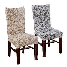 plum chair covers jacquard stretch chair covers for dining room decoration short half machine washable v55c dining chair slipcovers slipcover sofa