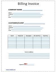 Billing Sheet Template Invoice Sample Car Service Free Templates