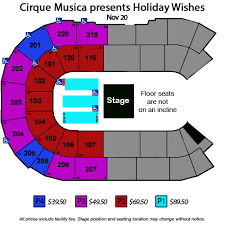 Historic Everett Theater Seating Chart Cirque Musica Presents Holiday Wishes Angel Of The Winds Arena
