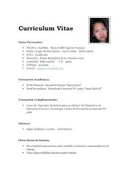 Magnificent Curriculum Vitae Filetype Doc Photo Example Resume And