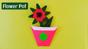 Paper Flower Pots How To Make A Easy And Simple Paper Flower Pot Origami