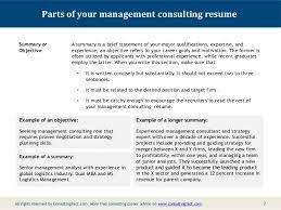 resume example summary