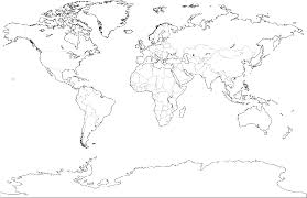 World Map Coloring Page Only Coloring Pages