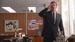 don draper office. Don (Jon Hamm) Downs A Drink In The Office, Spied On By Peggy Draper Office