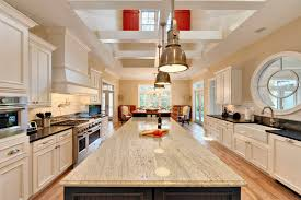 Rectangular Kitchen Interior Rectangular Kitchen Island With Colonial White Granite
