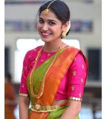 Sleeveless High Neck Blouse Designs 35 Stylish High Neck Blouse Designs For Pattu Sarees Bling