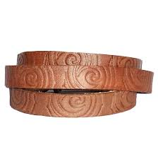 flat leather cord with texture 10mm wide 2mm thick