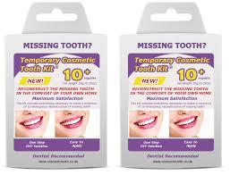 cosmetic temporary false teeth twin pack