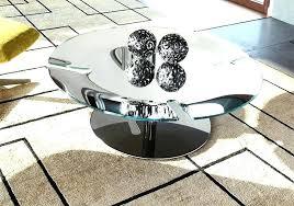 chrome coffee table modern round bond with a base thumbnail glass legs