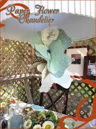 vintage nesting paper flower chandelier tutorial