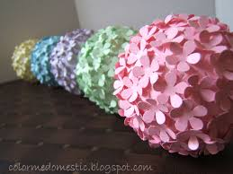 Paper Flower Balls To Hang From Ceiling Im Going To Make These In Purple And Have Them Hang From