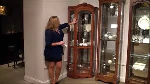 pulaski curio cabinet. Wonderful Cabinet Cherry Corner Curio Cabinet By Pulaski Furniture  Home Gallery Stores   YouTube With R