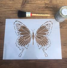 contemporary erfly insect stencil