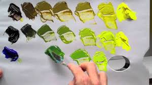 How to mix green <b>acrylic</b> paint - YouTube