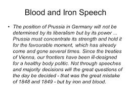 「blood and iron speech」の画像検索結果