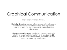 Graphical Communication There are two main types... Pictorial drawings  consist of a number of methods of communication used to visualise and  represent. - ppt download