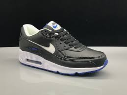 diligent nike air max 90 leather black white blue men s women s casual shoes sneakers