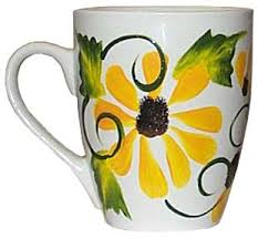 Black-Eyed Susan Hand Painted Coffee Mug