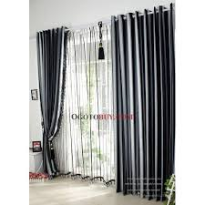 ... Black and White Striped Jacquard Blackout Curtains. Loading zoom