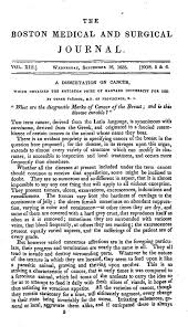 a dissertation on cancer which obtained the boylston prize of   first page