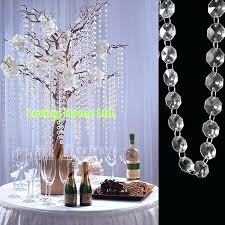 plastic chandelier crystals ft octagonal crystal beaded garland strands chains curtains trees for hanging wedding decor