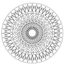 Mandala Facile 6 Mandalas Coloriages Difficiles Pour Adultes