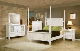 beach bedroom set. Perfect Bedroom 6 Piece Sandy Beach Bedroom Set With Poster Bed In White Finish By Coaster   201300 In E