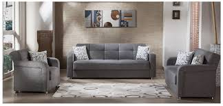 Istikbal Living Room Sets Vision Living Room Set Gray Fabric Sofa Loveseat Chair