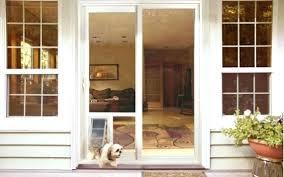 French Door With Dog Door Built In French Doors With Pet Door French