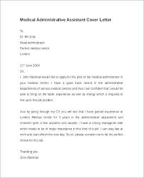 Medical Assistant Cover Letter Template Cover Letter Template For