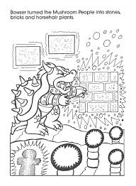 Small Picture Super LikeLikes Video Game Art Retro Mario Bowser Coloring Book