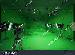 Professional Film Lighting Equipment Modern Green Photo Studio Old Style Stock Illustration 500209504