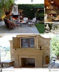 outdoor fireplace ideas tv above outdoor fireplace