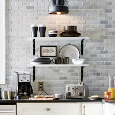 kitchen wall tiles. Modern Farmhouse Kitchen Feat. Marble Mosaic Tile Kitchen Wall Tiles L