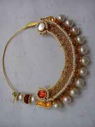 Gold Nose Ring Designs For Bridal Pin By Hema Rathore On Nath Nose Ring Designs Rajputi