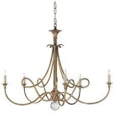 brass chandelier modern aged parts