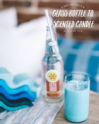 Diy Candles Diy Glass Bottle Scented Candles Bright Bazaar By Will Taylor