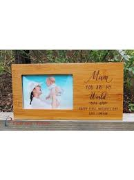 personalised bamboo end photo frame hold4x6 photo gift for mum gift for