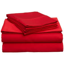 King Flat Sheet Red Egyptian Cotton 1000 Thread Count