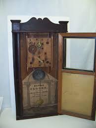 30 hour wooden works clock open