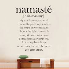 Quote Definition Awesome Free Shipping Namaste Definition Quote Vinyl Decal Yoga Studio