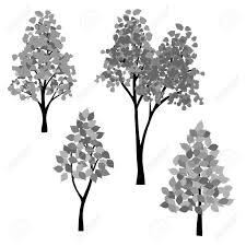 手描き黒灰色木ベクトル クリップ アート