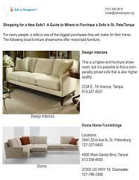 shopping for a new sofa tampabaydesignblog