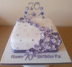 70th Cake Designs Lilac Flower Cake To Celebrate A 70th Birthday 70th