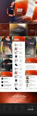 ecommerce web templates psd css author team gear online shop template