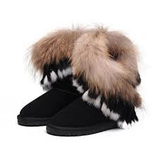 Ugg Women Fox Fur Short 8288 Black